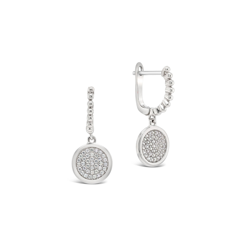 Demi-Fine Diamond Medallion Earrings