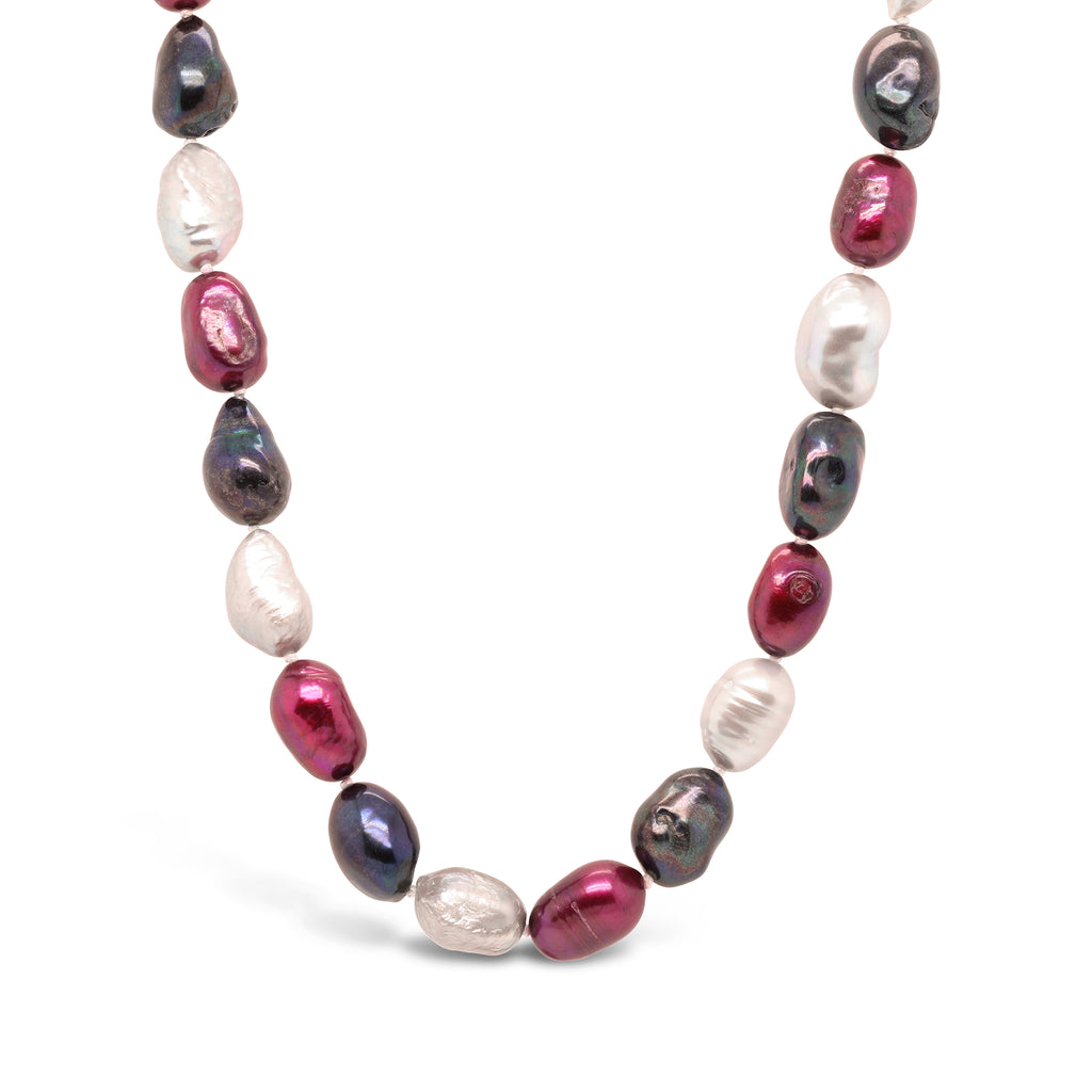 Real Baroque Pearl Ombre Necklace