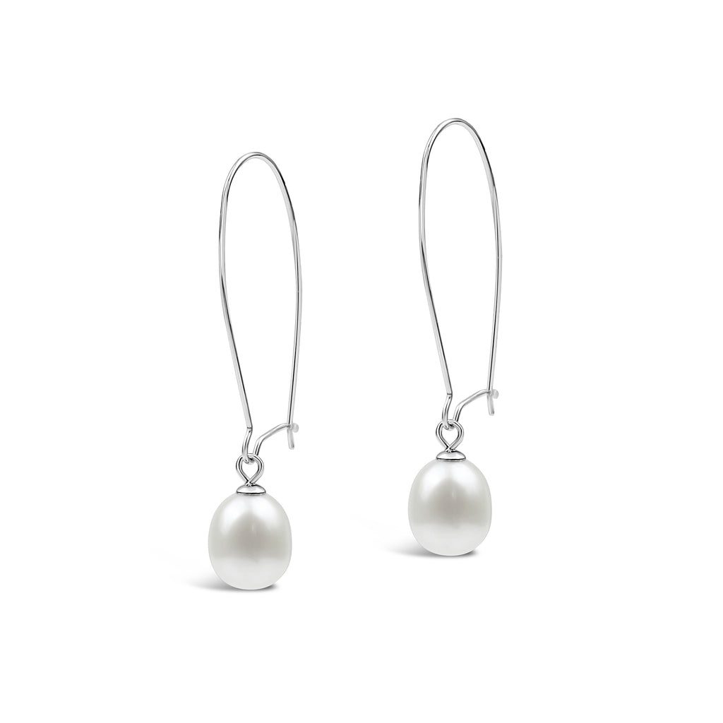 Baroque Pearl Modern Shepherd Hook Earring