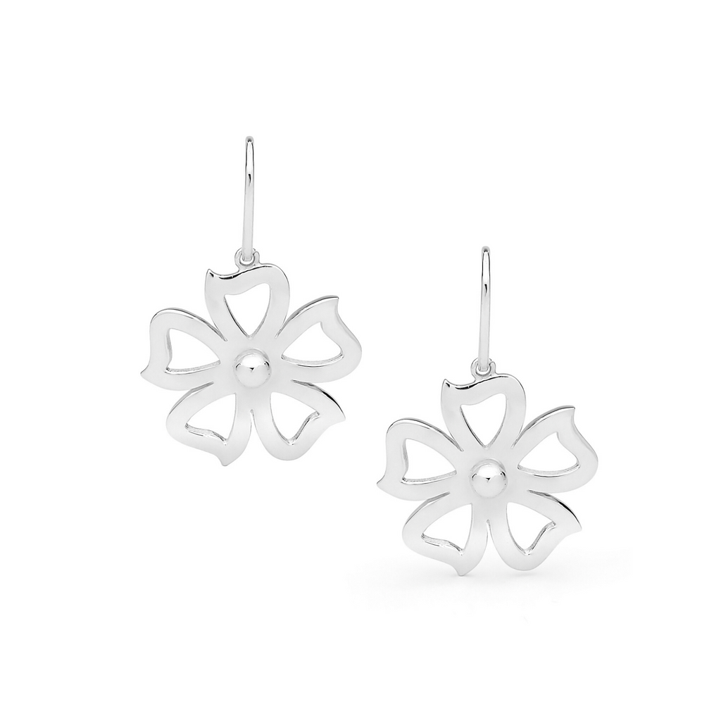 Portrait Fiore Petunia Shepherd Hook Earrings
