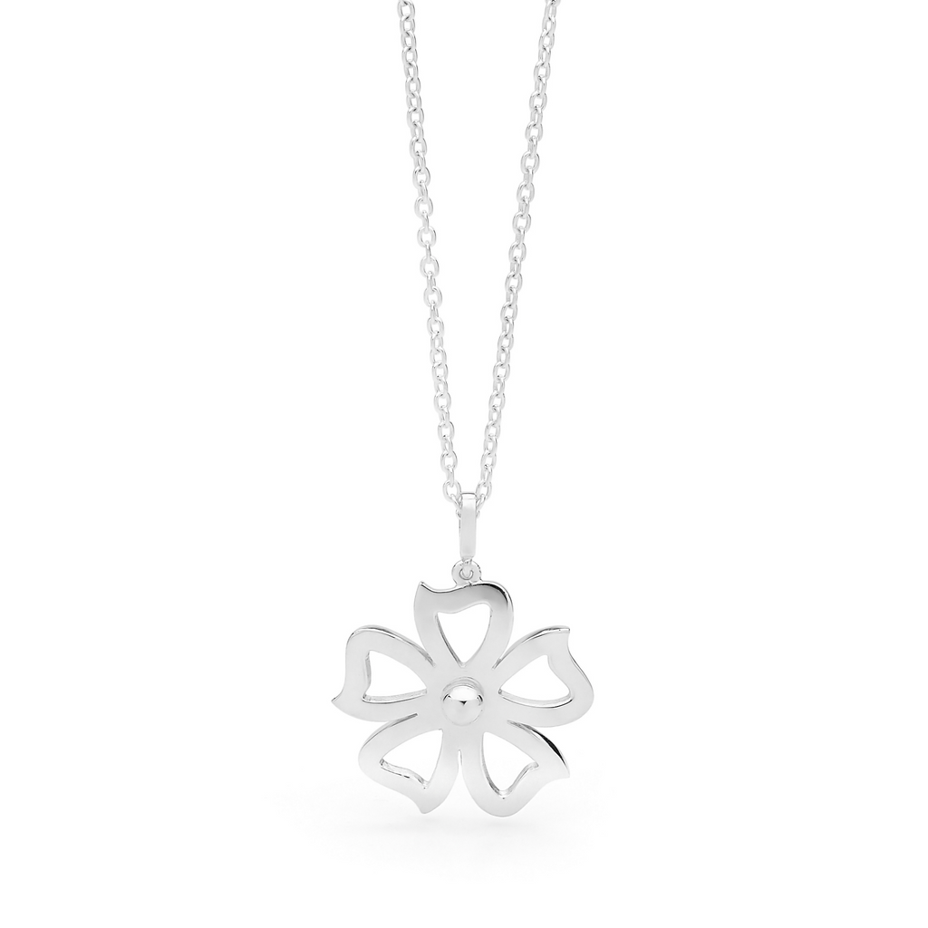 Portrait Fiore Petunia Flower Pendant Necklace