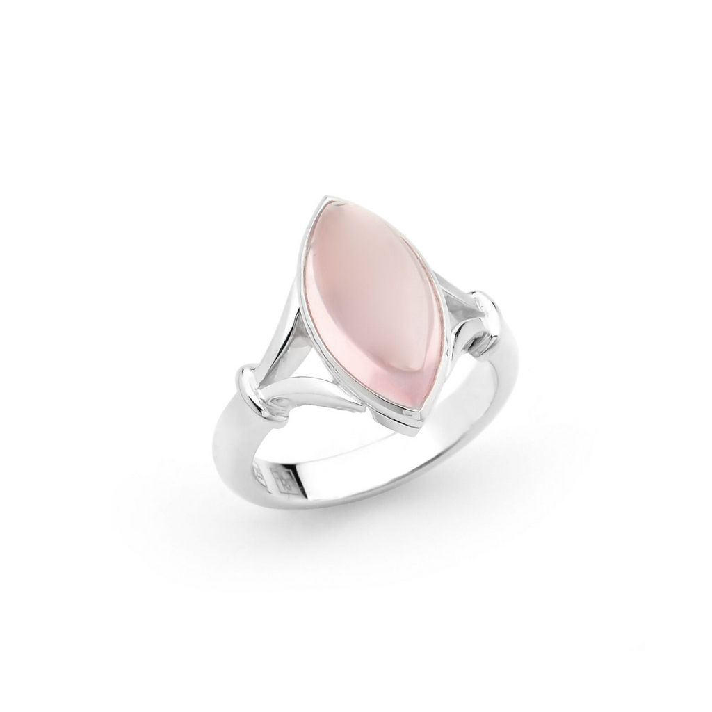 Portrait Vanguard Pink Marquise Gemstone Ring