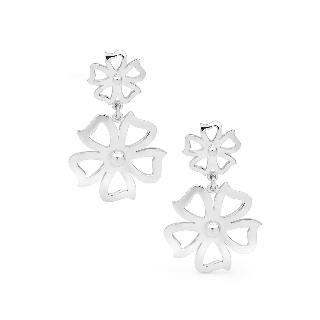 Portrait Fiore Petunia Twin Drop Earrings