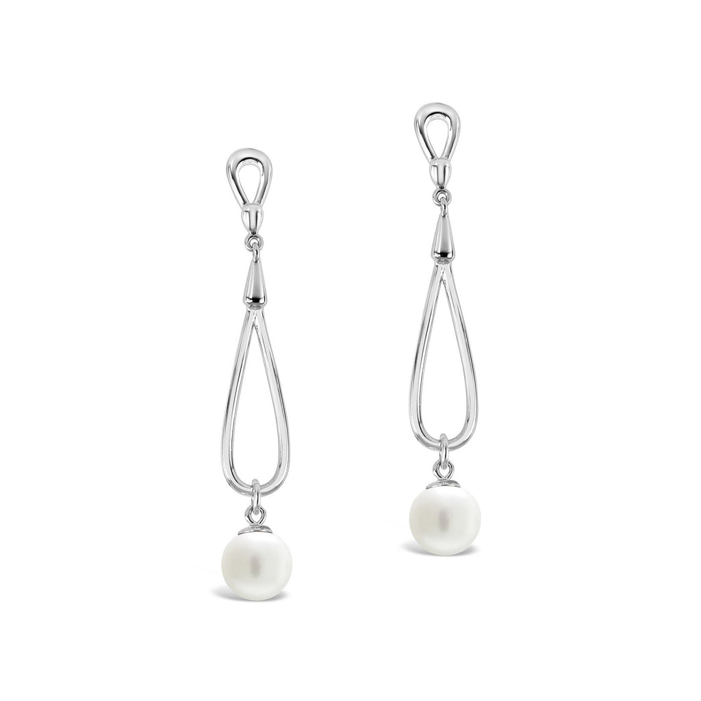 Freshwater Pearl Twist Drop Earrings