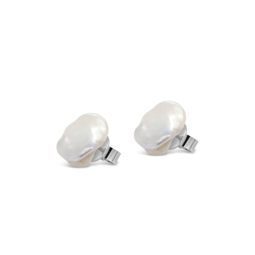 Freshwater Keshi Pearls Large Stud Earrings