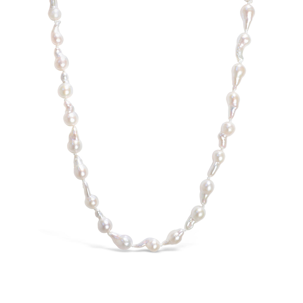 Real Freshwater Baroque Pearl Mini Comet Necklace