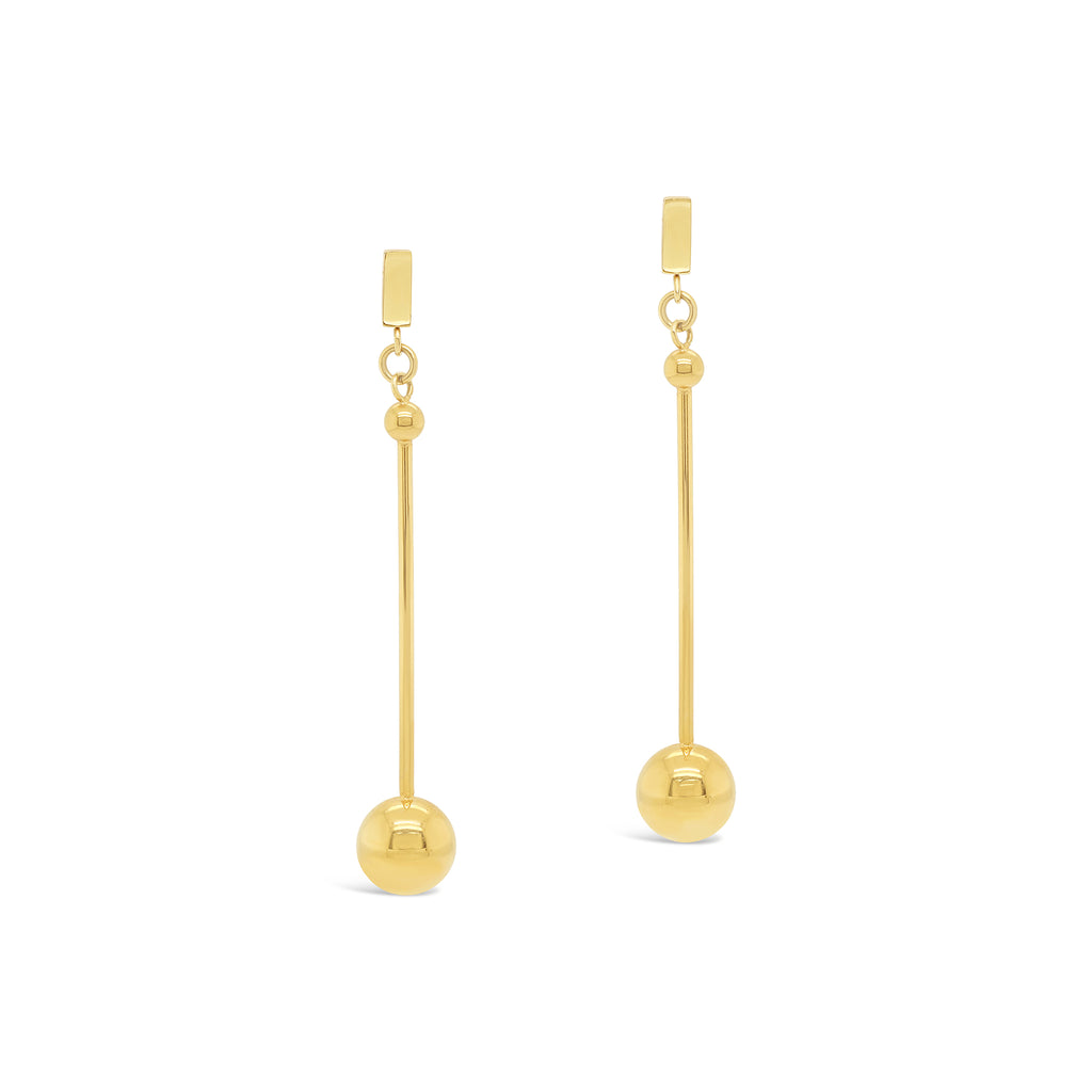 Contemporary Long Drop Ball Earrings
