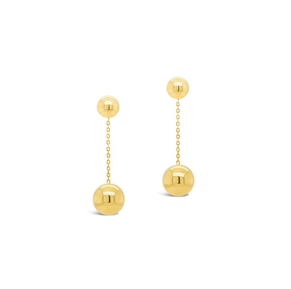 Contemporary Double Drop Ball Earrings