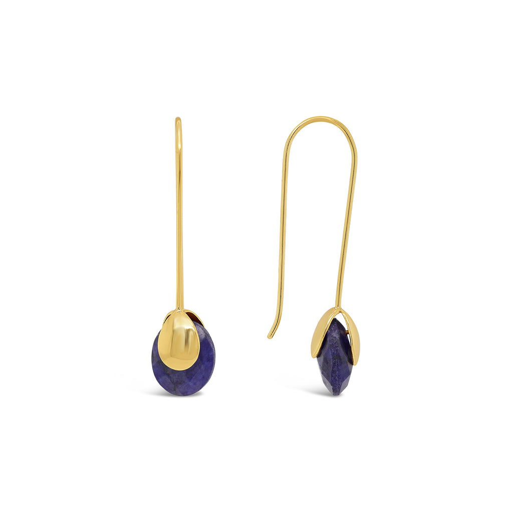 Real Gemstone Bud Earrings