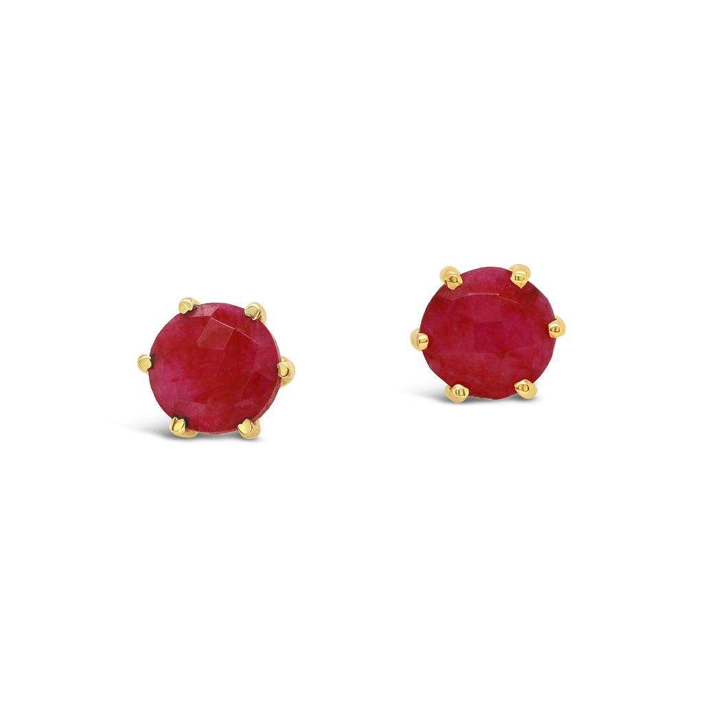 Real Gemstone Stud Earring