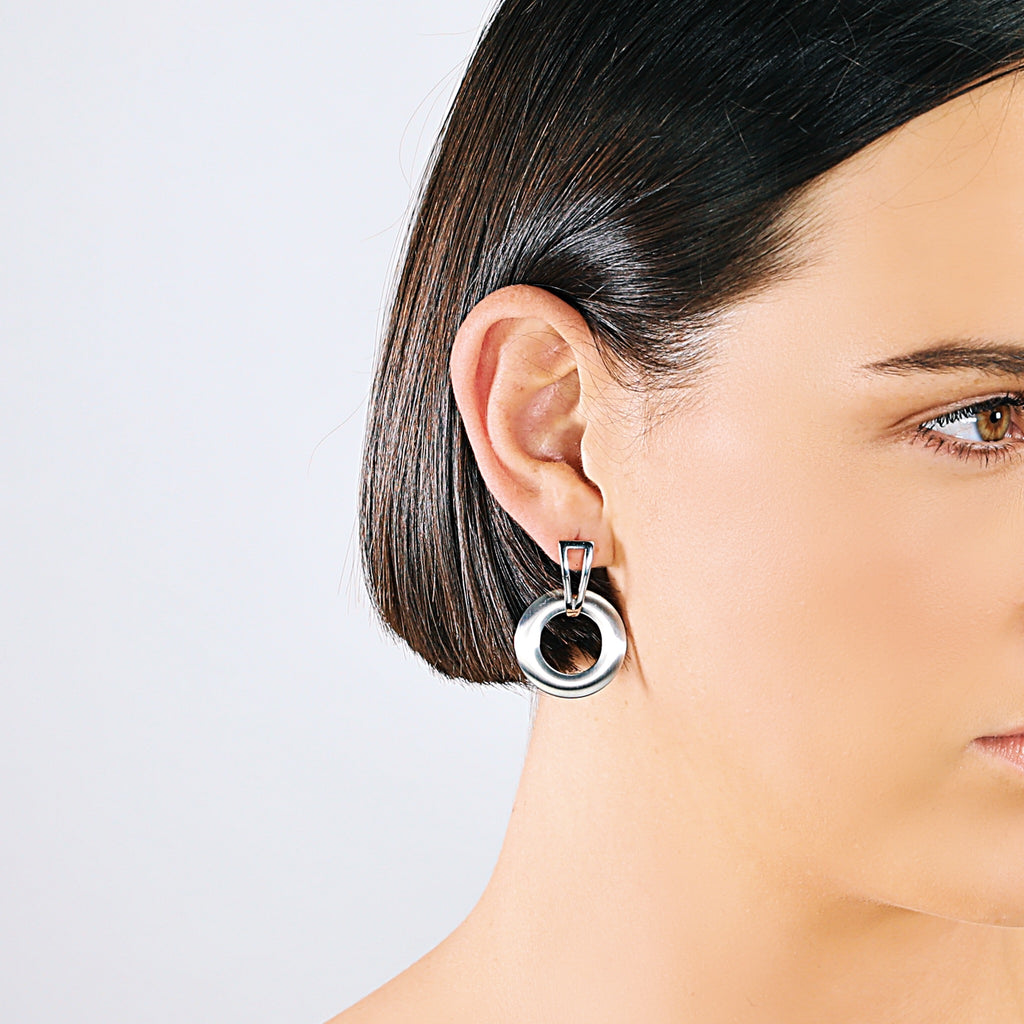 Contemporary Geometric Earrings (Silver)