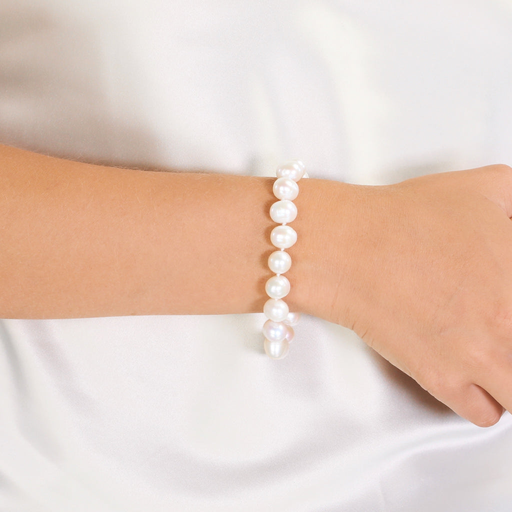 Everyday Classic Pearl Bracelet (White)