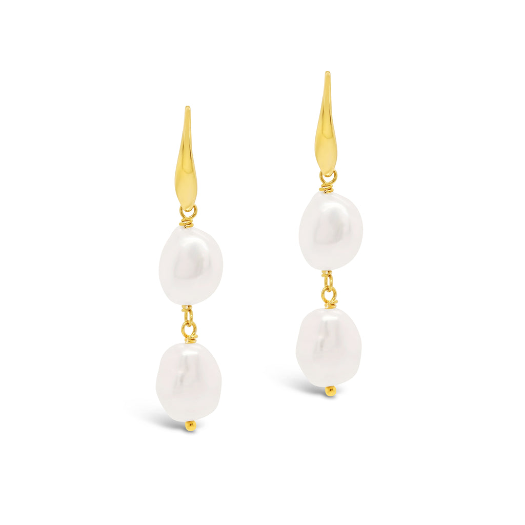 Baroque Pearl Double Drop Earring