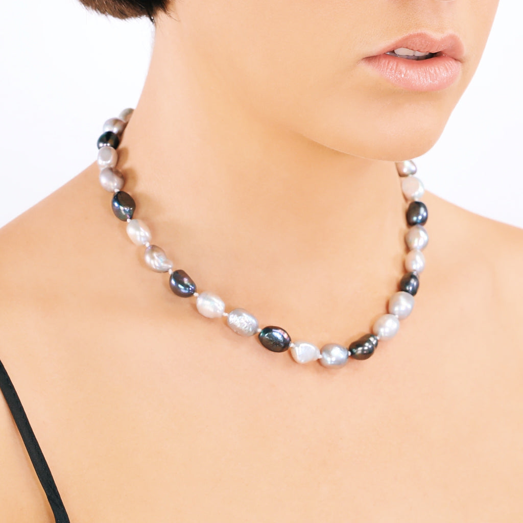 Real Freshwater Pearl Ombre Necklace