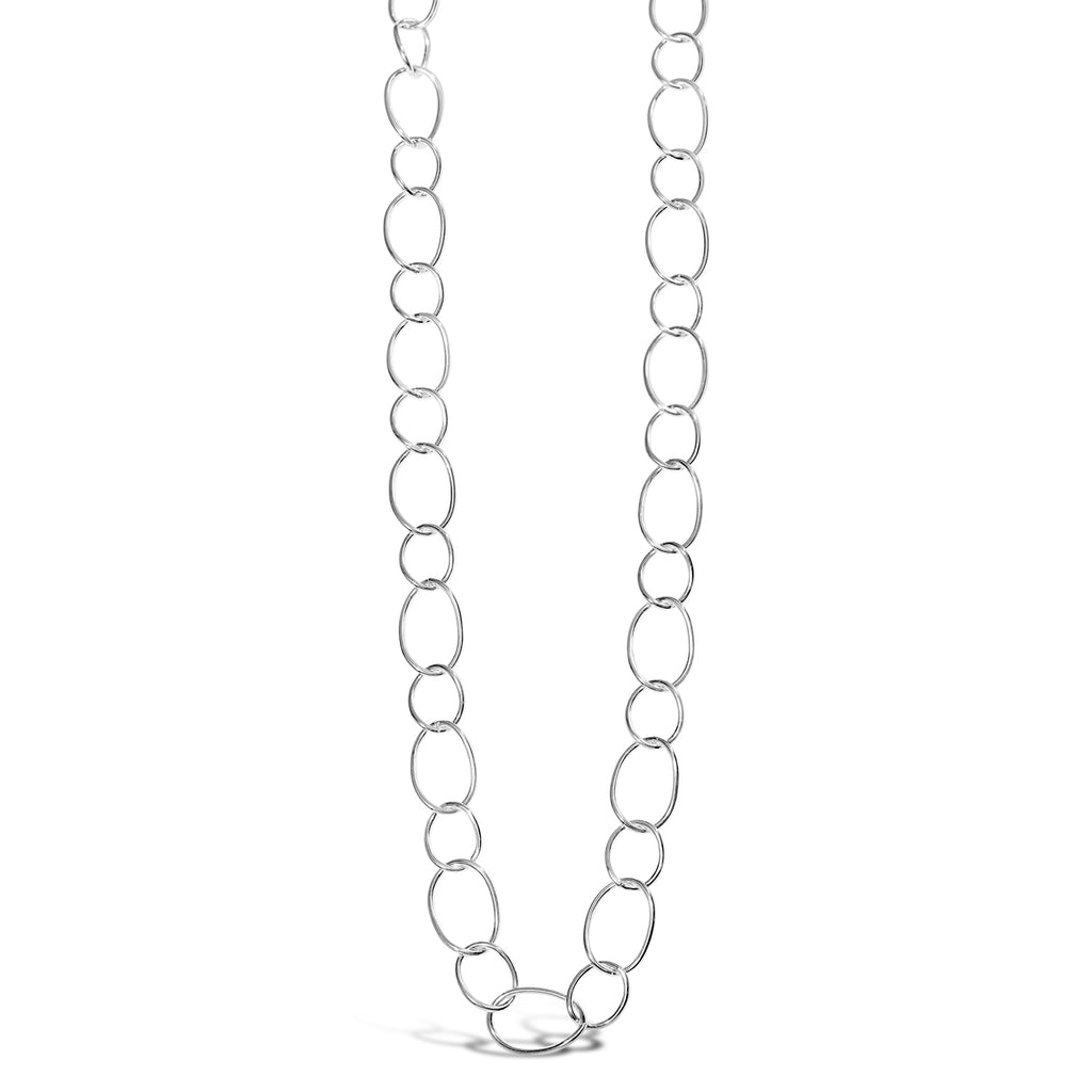 Contemporary Open Link Necklace (Silver)