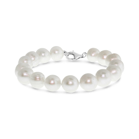 Real everyday white classic pearl bracelet