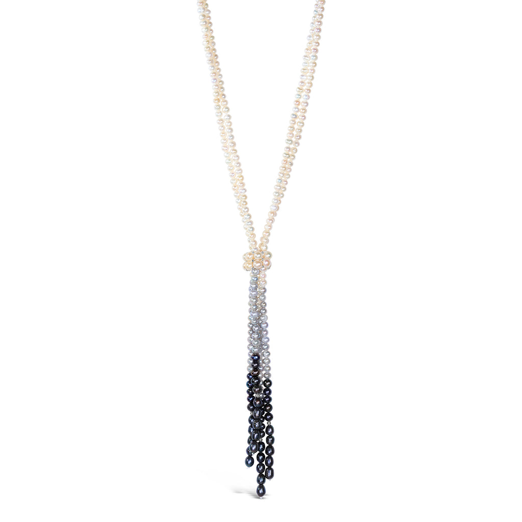 Everyday Pearl Modern Tassel Necklace