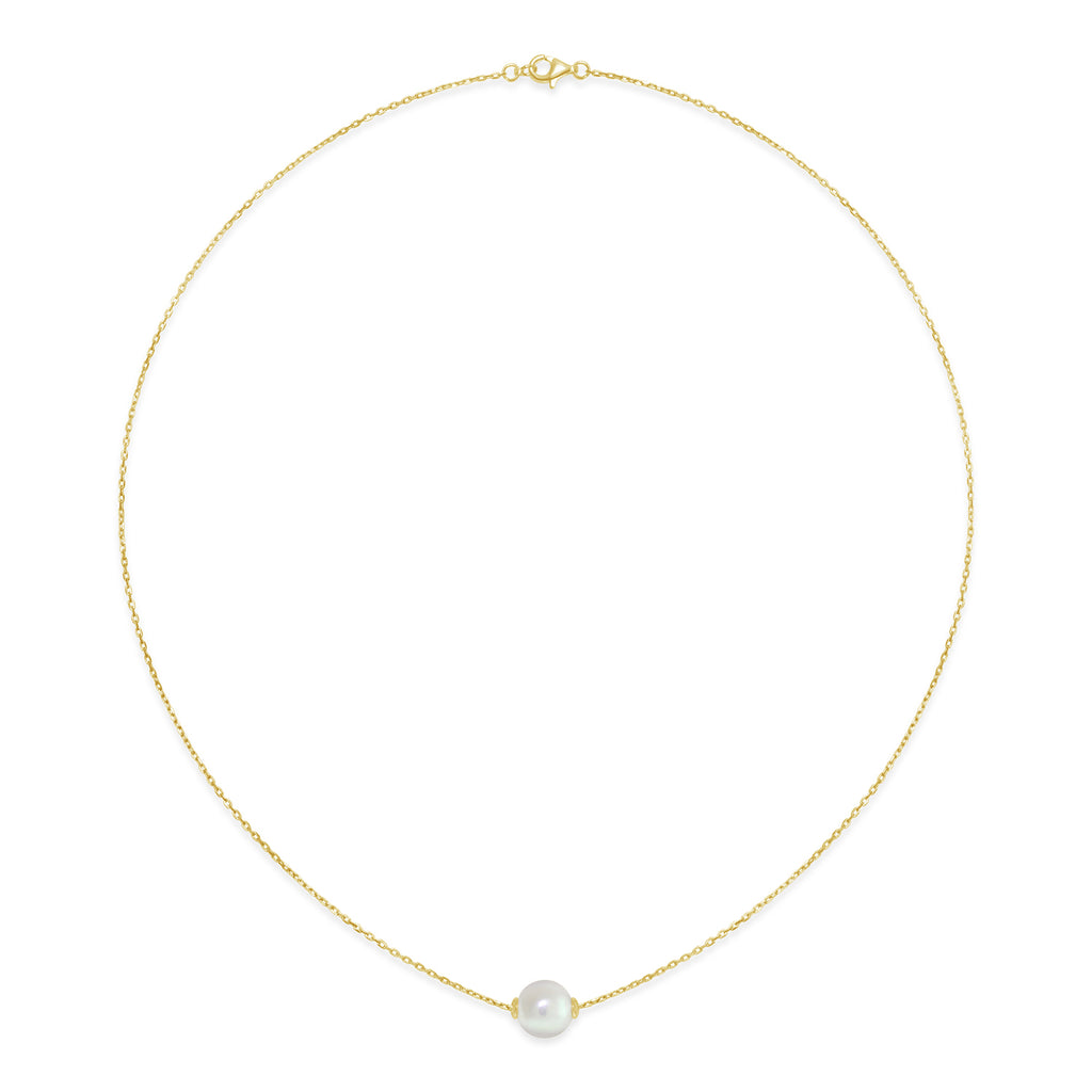 Freshwater Pearl Slider Necklace (Gold-plated)