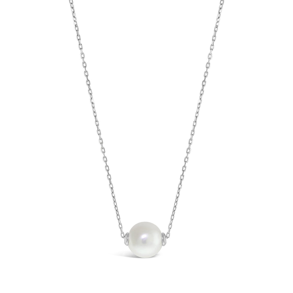 Real Pearl Modern Twist Slider Necklace