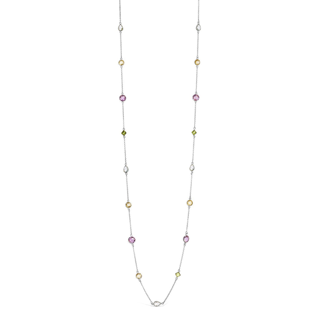 Real Gemstone Long Necklace