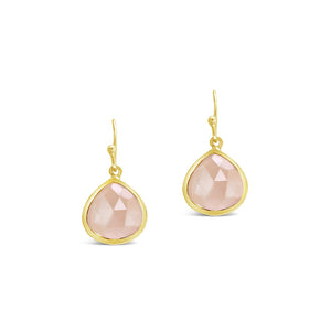Real Gemstone Single Drop Earrings