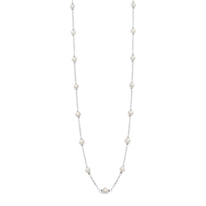 Real Pearl Modern Twist Classic Necklace