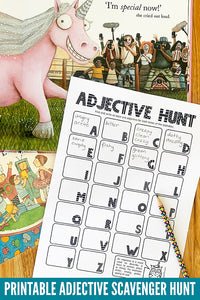 Adjectives Scavenger Hunt Activity