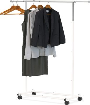 A garment rack comes in a simple design and does not occupy much space