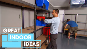 It's Adam to the rescue as he helps a couple sort out their cluttered garage with some new and nifty storage ideas