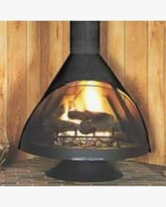 Grand Free Standing Wood Burning Fireplace