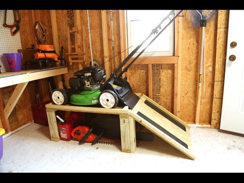 Storage Caddy for Lawn Mower and Yard Tools by Checking In With Chelsea (4 years ago)
