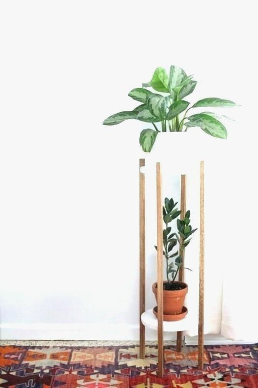 Unique Outdoor Corner Plant Stand