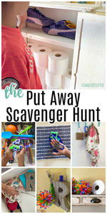The Put Away Scavenger Hunt