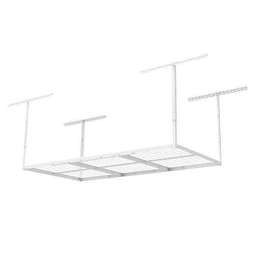 Try fleximounts 2 pcs 3x6 overhead garage adjustable ceiling storage rack 72 length x 36 width x 40 height 2 rack package white