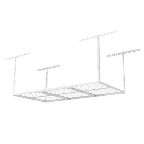 Results fleximounts 3x6 overhead garage storage adjustable ceiling storage rack 72 length x 36 width x 40 height white
