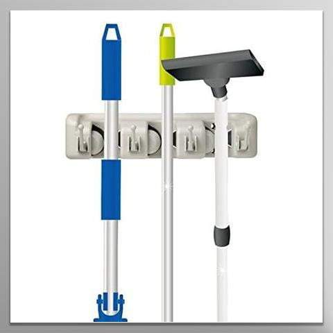 Mop and Broom Holder, Wall Mounted Garden Tool Storage Tool Rack Storage & Organization for General Storage (3-position)
