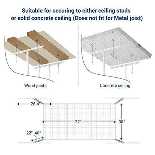 Related fleximounts 3x6 overhead garage storage adjustable ceiling storage rack 72 length x 36 width x 40 height white