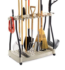 Sts Supplies Ltd Tool Rack Metal Organizer Rolling Garden Tools Rack Corner Garage Rack Cart On Wheels &Amp; Ebook By Easy2Find
