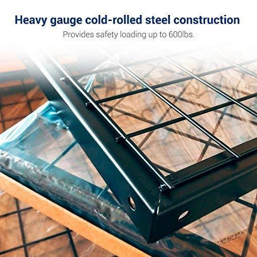 The best fleximounts 2 piece overhead garage storage rack set w hooks adjustable ceiling storage racks 96 length x 48 width x 40 height 2 pcs black