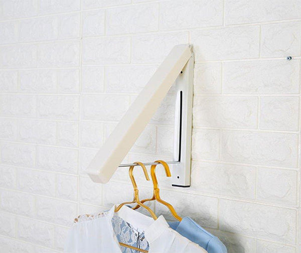 Great folding clothes hanger wall mounted retractable clothes hanger drying rack great space saver for laundry room attic garage indoor outdoor use stainless steel easy installation 81258