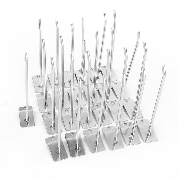 Heavy duty rack hooks hanging metal pegboard saltwall hooks 6 inch single prong heavy duty utility hooks for shop display garage kitchen 25 value pack