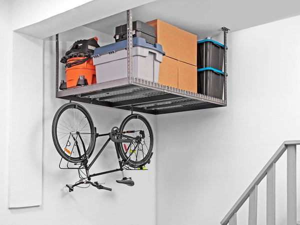 Buy now newage products versarac gray 2 overhead rack and 20 piece accessory kit garage overheads 40219