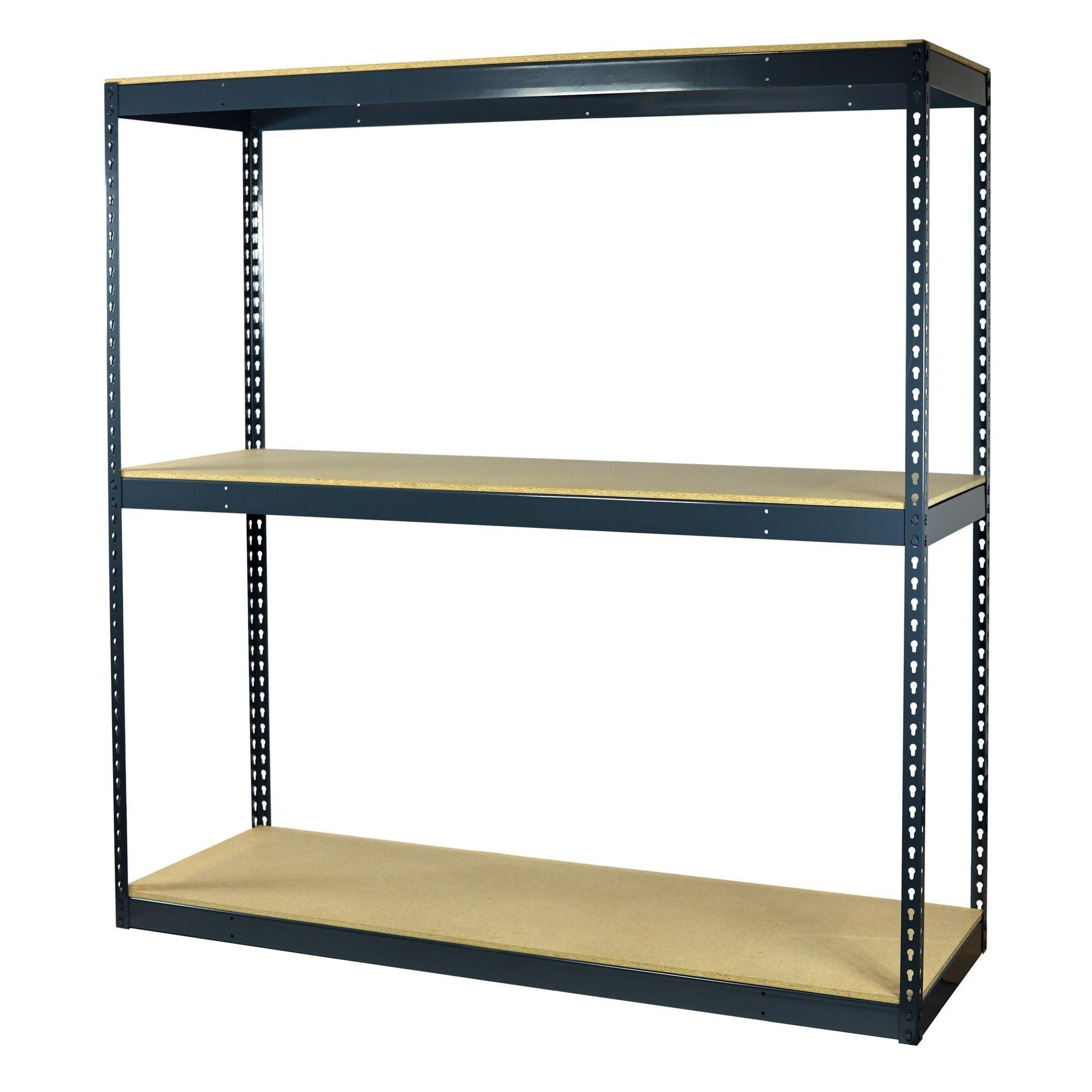 Buy storage pro garage shelving boltless 3 shelves particle board decking heavy duty 1950 lbs capacity 60 w x 36 l x 72 h