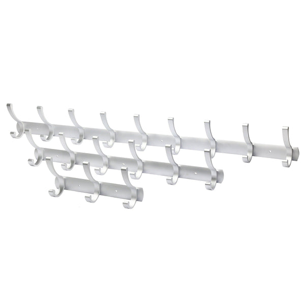 Discover the webi 2 set 3 peg sturdy coat hat rack bath kitchen towel hook holder wall mounted closet garment garage organizer bedroom home office storage bathroom fixtures accessories aluminum satin cyuyg32