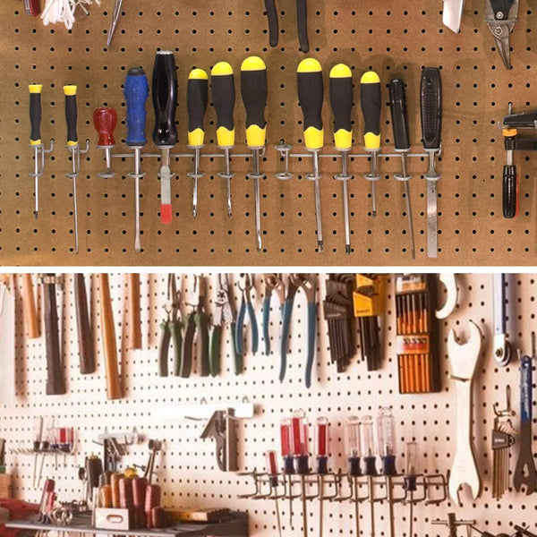Pegboard Hook Assortment,Cheaboom Pegboard Hooks and Organizer Assortment - Peg Hook Organization with Basket