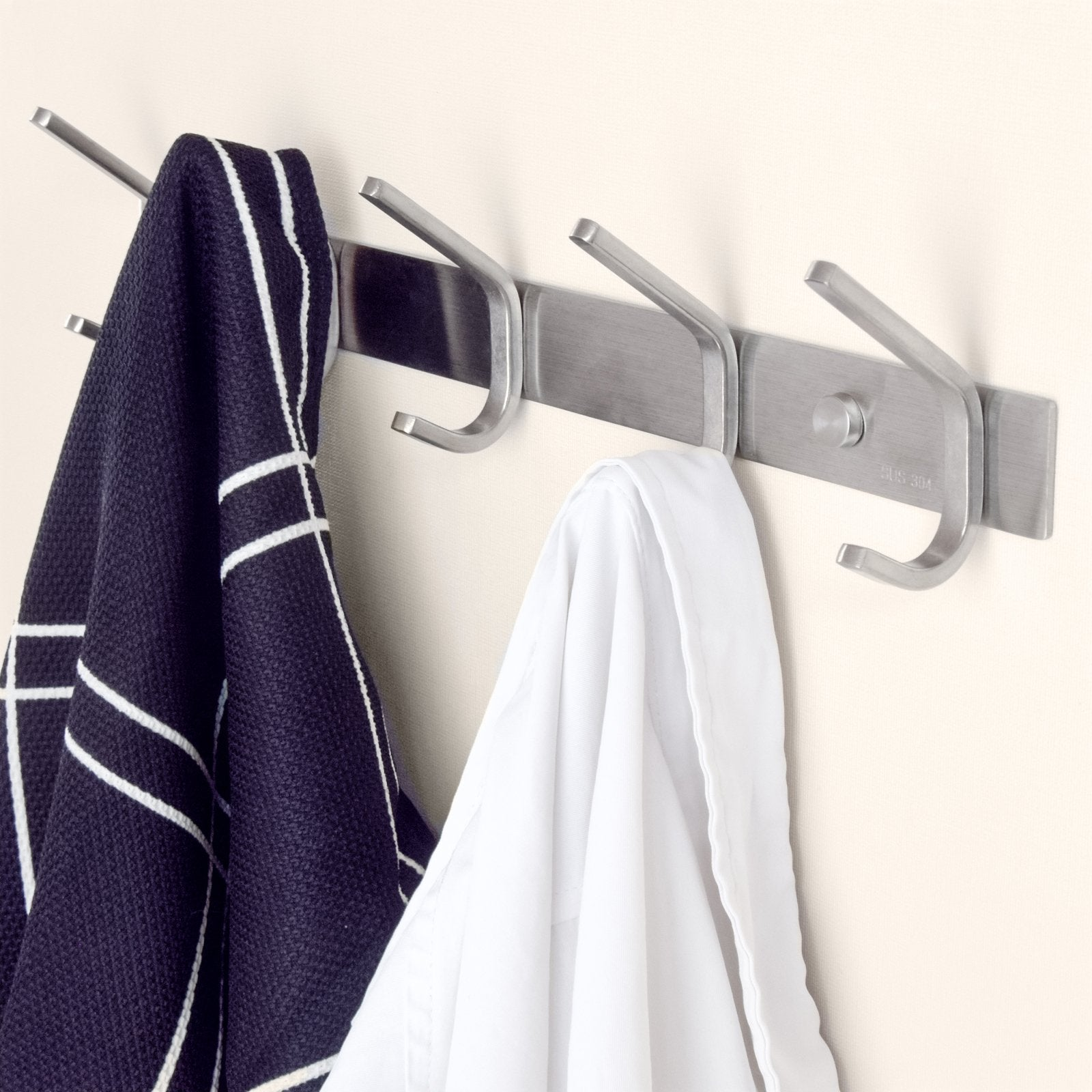 Amazon coat rack hooks durable stainless steel organizer rack with solid steel construction perfect for towels robes clothes for bathroom kitchen garage 8 hooks