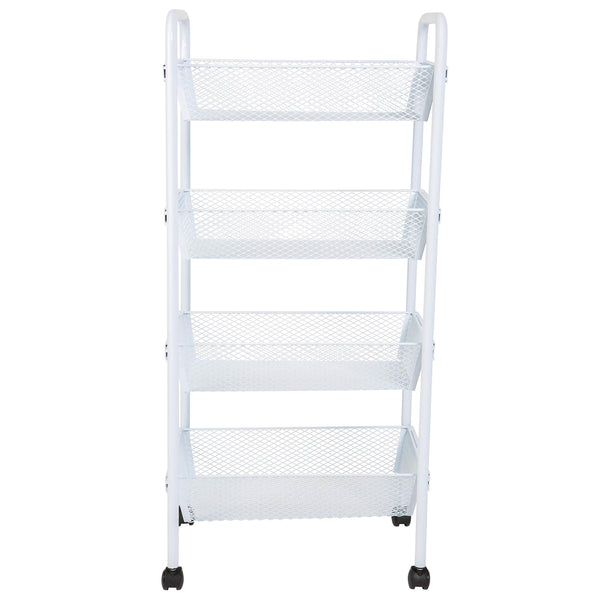 Amazon best kitchen details simplify 4 drawer rolling utility storage cart organizer good for pantry office craft room garage closet classroom more 4 tier