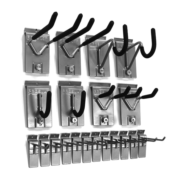 Proslat 11004 1/8-Inch Backplates Steel Hook Kit Designed for Proslat PVC Slatwall, 20-Piece