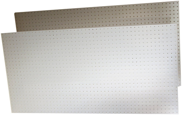 Triton Products 018-Kit DuraBoard 2)  22 Inch W x 18 Inch H x 1/8 Inch D White Polypropylene Pegboards with 22 pc. DuraHook Assortment and Wall Mounting Hardware