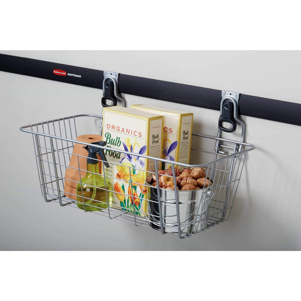 Buy rubbermaid fasttrack garage storage wire mesh basket
